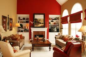 Open Family Room  Breakfast Area In Bold Colors - Colors for family room