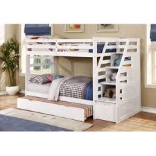 Amazon Com Bunk Bed All In 1 Loft With Trundle Desk Chest Closet by White Bunk U0026 Loft Beds You U0027ll Love Wayfair