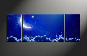3 piece blue sky landscape wall art