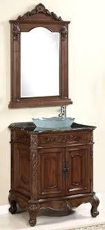 Quot Claudia Double Vessel Sink Vanity Antique Coffee Bathroom - Bathroom vanity for vessel sink