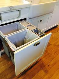Best  Kitchen Recycling Bins Ideas On Pinterest Recycling - Kitchen cabinet garbage drawer