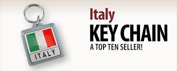 italian keychain horn charm italian magnets flag for the car