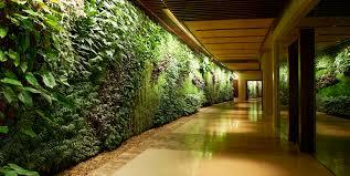 garden wall inside interiors design