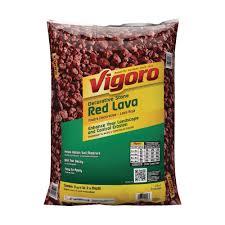 Colored Rocks For Garden by Vigoro 0 5 Cu Ft Decorative Stone Red Lava Rock 440897 The