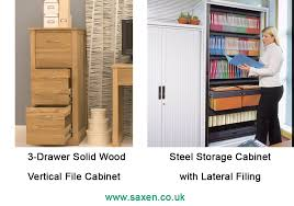 What Is A Lateral Filing Cabinet Vertical Vs Lateral Filing Cabinets Office Storage