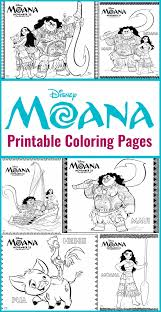 free printables moana coloring pages disney printables