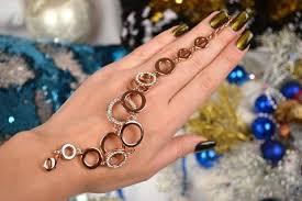 fashion bracelet images Shining diva fashion jewellery 18k rose gold crystal stylish jpg