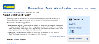 car rentals that accept prepaid debit cards from where i sit in the world why you should avoid alamo rent a car