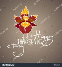 happy thanksgiving day handlettering text handmade stock vector