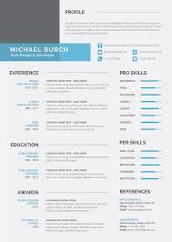 download premium modern resume cv template