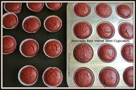 avocado red velvet mini cupcakes nosh my way