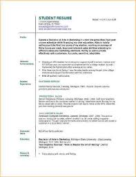 Proposal Resume Template A Resume Format For Students Business Proposal Templated