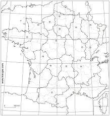 France Physical Map by Blank Map Of France Departments Capitals Of French Regions