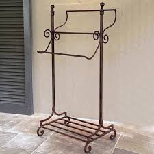 Wrought Iron Bathroom Shelves Free Standing Wrought Iron Towel Stands