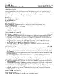 Accounting Student Resume Sample by Cv Examples Accounting Graduate