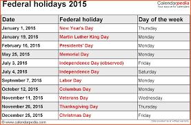 printable 2015 calendar with holidays bio exle