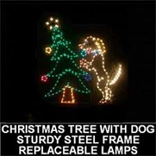 Lighted Dog Christmas Outdoor Decoration by Lighted Outdoor Decorations Lighted Animal Decorations Ppn
