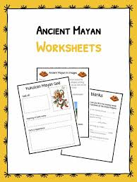 ancient mayan worksheets u0026 facts kidskonnect