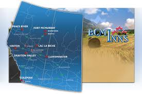 Fort Mcmurray Alberta Canada Map by Best Canadian Motor Inns Book Online