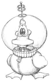 space duck sketch by gregjolly on deviantart