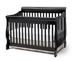 Convertible Sleigh Bed Crib Delta Children Canton 4 In 1 Convertible Crib Black