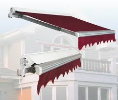 retractable awning malaysia gear or motorised retractable shades