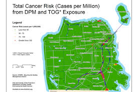 Map Of San Francisco Districts by Is The Air Pollution In Your Neighborhood A Cancer Risk Curbed Sf