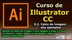 imagen blanco y negro en illustrator curso de illustrator cc 9 2 calco de imagen dos ejemplos youtube