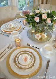 Beautiful Place Settings Gilded Holiday Brunch