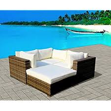 Teal Sofa Set by Amazon Com Outdoor Patio Sofa Sectional Wicker Furniture 7pc