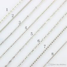 silver necklace styles images Best quality 8 styles jewelry accessories chain silver snake chain jpg