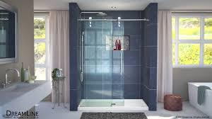 dreamline enigma z frameless shower door sliding opening youtube