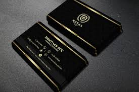 gold and black business card 52 business card templates