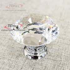 glass handles for kitchen cabinets 30mm zinc alloy clear crystal sparkle glass kitchen laminate