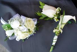 calla boutonniere and calla boutonniere and corsage buckets fresh flower