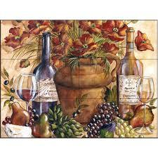 the tile mural store tuscan poppy 24 in x 18 in ceramic mural