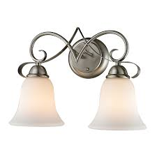 shop westmore lighting colchester 2 light 11 in brushed nickel