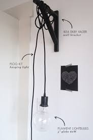 Ikea Pendant Lights Innovative Plug In Ceiling Light Ikea Just Hanging Around Wall