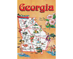 Map Of Atlanta Georgia by Reference Map Of Georgia State Usa Nations Online Project Georgia
