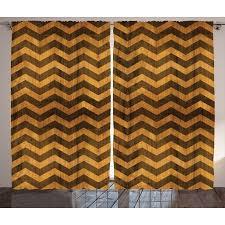 Chevron Style Curtains Chevron Decor Curtains 2 Panels Set Zigzag Chevron V Shaped Motif