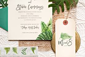 tropical wedding invitations tropical leaf destination wedding invitations tropical wedding