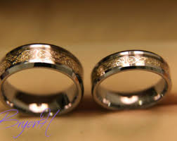 matching wedding bands for him and wedding bands etsy