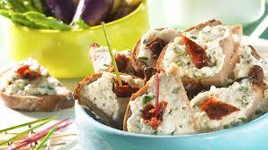 recette canap ap ritif facile recette crème de chèvre frais aux herbes recette apéritif