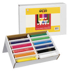 School Desk Organizers by School Smart Colored Pencil Classroom Pack Assorted Colors