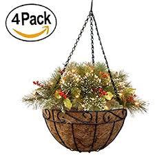 hanging planter basket amazon com tosnail pvc coated metal wall hanging planter basket