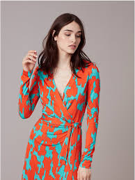 dvf wrap dress banded sleeve wrap dress in eylan bold pretty dresses
