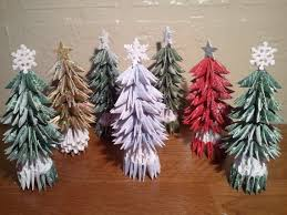 christmas tree with snow 3d origami small christmas tree with snow