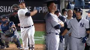 Aaron Judge Gary Sanchez Struggle In Game 1 Loss To Indians Newsday - aaron judge homers gary sanchez hits 2 hrs mlb com