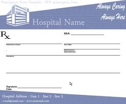 blank prescription pad image sample ninareads com