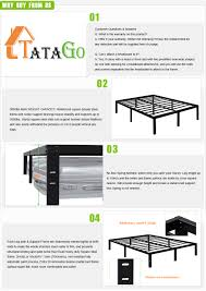 King Size Bed Frame For Sale Ebay 3000lbs Max Weight Tatago 16inch Heavy Duty Platform Bed Frame